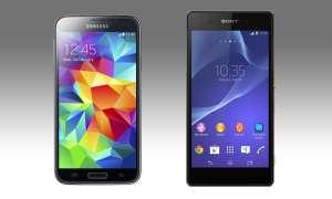 Samsung Galaxy S5, Sony Xperia Z2